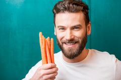 Man with healthy food Royalty Free Stock Image