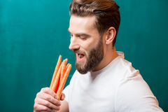 Man with healthy food Stock Image