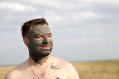 Man with healthy mud Royalty Free Stock Photography
