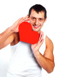 Man with a heart Royalty Free Stock Images