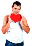Man with a heart Stock Image