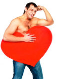 Man with a heart Royalty Free Stock Photography