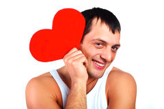 Man with a heart Royalty Free Stock Photos