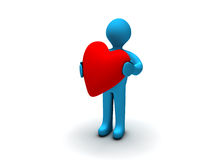 Man with Heart Royalty Free Stock Images