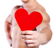 Man with heart Royalty Free Stock Photos