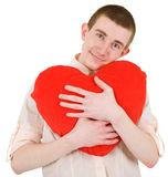 Man and heart Stock Images