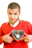 Man with heart Stock Photography