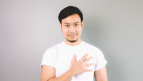 A man with heart. Stock Photography