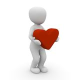 Man with heart Royalty Free Stock Image