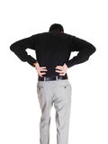 Man with heavy back pain. royalty free stock images