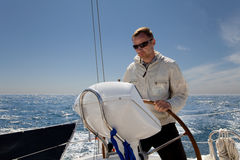 Man at Helm Royalty Free Stock Photography