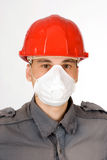 Man in helmet Stock Image