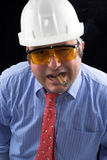 Man with  helmet Stock Photos