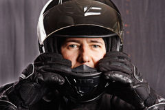 Man in helmet Royalty Free Stock Photo