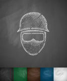 Man in helmet icon Stock Image
