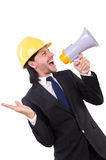 Man with helmet Royalty Free Stock Images