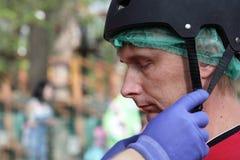 Man in helmet Stock Image