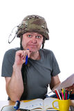 Man with helmet Stock Photography