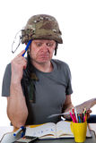 Man with helmet Stock Image