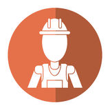 Man with helmet uniform work professional contractor shadow Royalty Free Stock Images