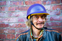 Man in Helmet Stock Images