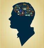 Man Hersenen Stock Foto