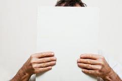 man hiden Stock Image