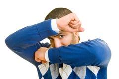 Man hiding Stock Image
