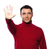 Man high five gesture Stock Photos