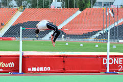Man high jumping Royalty Free Stock Photos