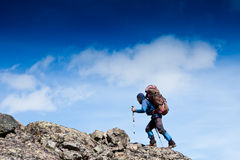 Man in hike Stock Image