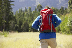 Man On Hike In Beautiful Countryside Royalty Free Stock Photo