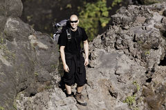 A man hiking Royalty Free Stock Photography