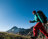 Man hiking Stock Photo