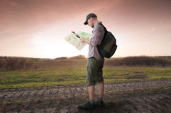 Man hiking Royalty Free Stock Image
