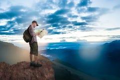 Man hiking Royalty Free Stock Photo