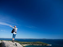 Hiking in Acadia National Park Royalty Free Stock Photos