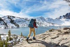 Hike in Sierra Nevada Stock Photo