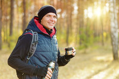 Man hiking stock photography
