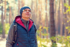 Man hiking royalty free stock images