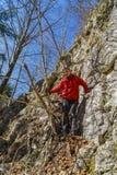 Man  hiking i Stock Photography