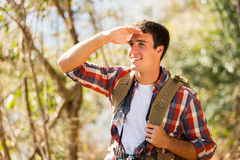 Man hiking mountain Stock Photos