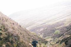 Man Hiking in the Mountains Royalty Free Stock Image