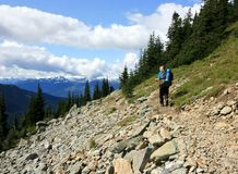 Man Hiking near Whistler Stock Photos