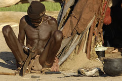 Man of the Himba Tribe in Namibia Royalty Free Stock Image
