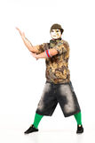 Man in hip hop outfit Stock Photography