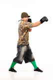 Man in hip hop outfit Stock Image