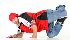 Man in hip hop outfit Royalty Free Stock Photography