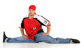 Man in hip hop outfit royalty free stock photo