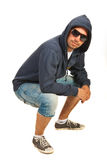 Man in hip hop posture Royalty Free Stock Images